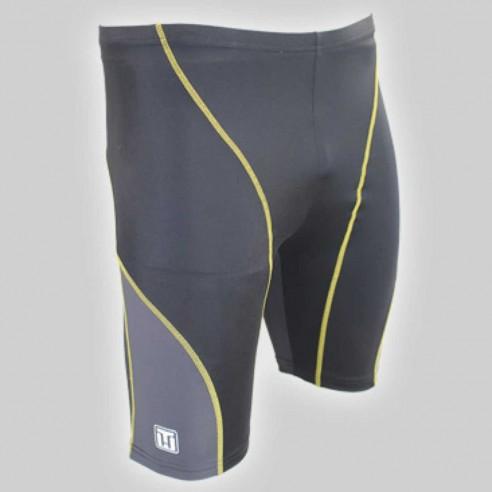 Abbigliamento-Canottaggio-Short-Barley-Nero/giallo-RemoRosso-Canottaggio